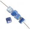 Shell Beads Dice 6mm Blue Aurora Borealis